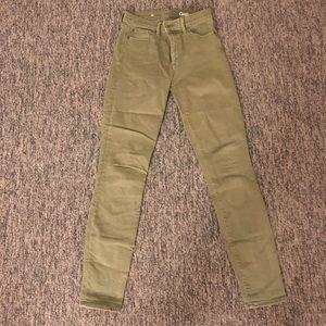 Gap Olive Denim Skinny Jeans